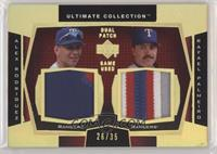 Alex Rodriguez, Rafael Palmeiro [EX to NM] #/35