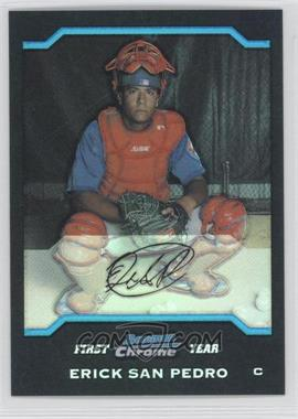 2004 Bowman Draft Picks & Prospects - Chrome - Refractor #BDP37 - Erick San Pedro