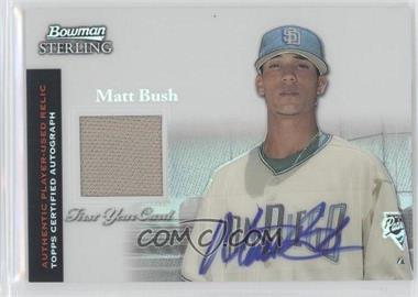 2004 Bowman Sterling - [Base] - Refractor #BS-MB - Matt Bush /199