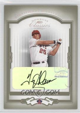 2004 Donruss Classics - [Base] - Significant Signatures Green [Autographed] #114 - Troy Glaus /10