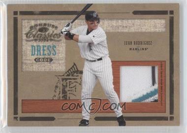 2004 Donruss Classics - Dress Code - Game-Worn Jersey Prime #DC-30 - Ivan Rodriguez /25