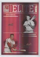 Red Schoendienst, Enos Slaughter, Stan Musial, Marty Marion [EX to NM…