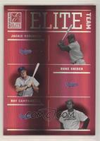 Jackie Robinson, Duke Snider, Roy Campanella [EXtoNM] #/1,500