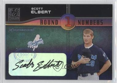 2004 Donruss Elite Extra Edition - Round Numbers - Signatures [Autographed] #RN-40 - Scott Elbert /250