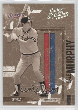 2004 Donruss Leather & Lumber - [Base] - Black & White Silver #14 - Dale Murphy /100