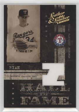 2004 Donruss Leather & Lumber - Hall of Fame - Materials [Memorabilia] #HF-6 - Nolan Ryan /100