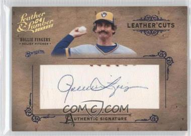 2004 Donruss Leather & Lumber - Leather Cuts - Ball #LC-46 - Rollie Fingers /5