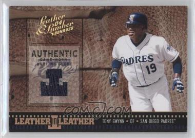 2004 Donruss Leather & Lumber - Leather in Leather - Materials [Memorabilia] #LEL-18 - Tony Gwynn /50