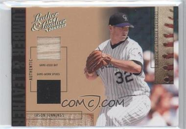 2004 Donruss Leather & Lumber - Lumber & Leather - Bat/Spikes #LUL-19 - Jason Jennings /50