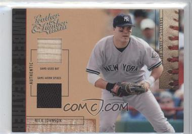 2004 Donruss Leather & Lumber - Lumber & Leather - Bat/Spikes #LUL-38 - Nick Johnson /25
