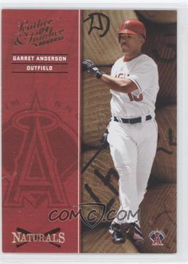 2004 Donruss Leather & Lumber - Naturals #N-2 - Garret Anderson /2499