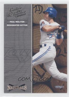 2004 Donruss Leather & Lumber - Naturals #N-4 - Paul Molitor /2499