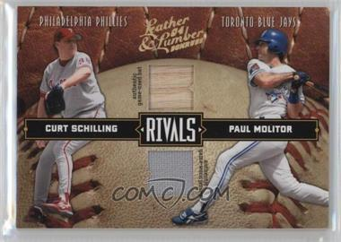 2004 Donruss Leather & Lumber - Rivals - Materials [Memorabilia] #LLR-38 - Curt Schilling, Paul Molitor /250
