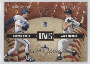 2004 Donruss Leather & Lumber - Rivals #LLR-10 - George Brett, Jack Morris /2499