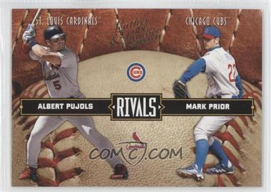 2004 Donruss Leather & Lumber - Rivals #LLR-2 - Albert Pujols, Mark Prior /2499