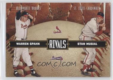 2004 Donruss Leather & Lumber - Rivals #LLR-3 - Warren Spahn, Stan Musial /2499
