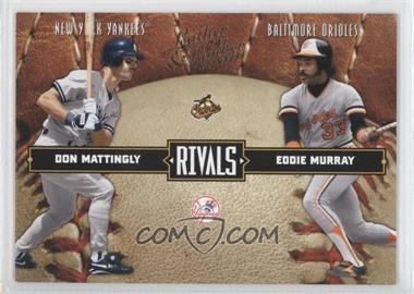 2004 Donruss Leather & Lumber - Rivals #LLR-32 - Don Mattingly, Eddie Murray /2499