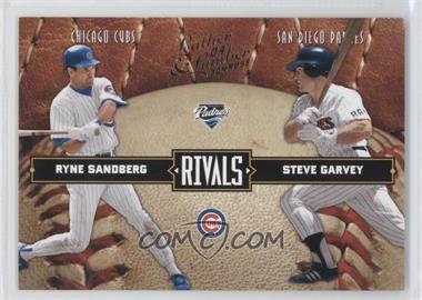 2004 Donruss Leather & Lumber - Rivals #LLR-34 - Ryne Sandberg, Steve Garvey /2499