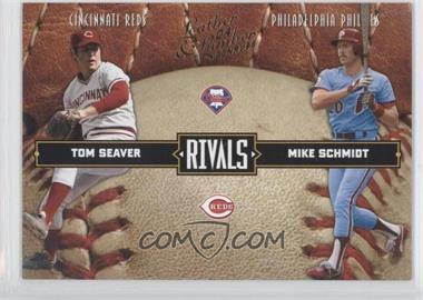 2004 Donruss Leather & Lumber - Rivals #LLR-9 - Tom Seaver, Mike Schmidt /2499