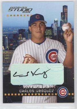 2004 Donruss Studio - [Base] #205 - Carlos Vasquez /800