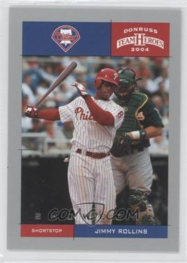 2004 Donruss Team Heroes - [Base] - Showdown Silver #311 - Jimmy Rollins /50
