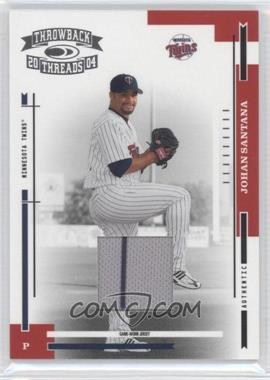 2004 Donruss Throwback Threads - [Base] - Material [Memorabilia] #114 - Johan Santana /100