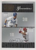 Albert Pujols, George Brett [EX to NM] #/1,500