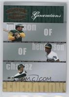 Reggie Jackson, Rickey Henderson, Eric Chavez /1500