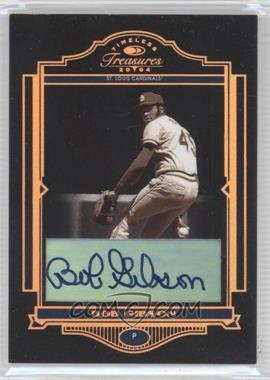 2004 Donruss Timeless Treasures - [Base] - Bronze Signatures [Autographed] #87 - Bob Gibson /25