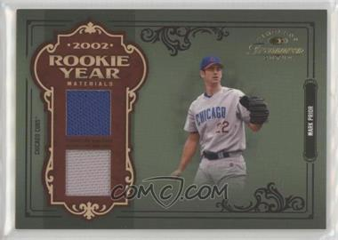 2004 Donruss Timeless Treasures - Rookie Year Materials - Dual #RY-36 - Mark Prior /22