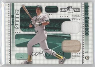 2004 Donruss Timelines - Boys of Summer - Combo Materials [Memorabilia] #19 - Jose Canseco /100