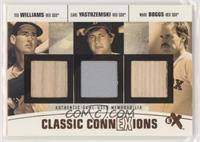 Ted Williams, Carl Yastrzemski, Wade Boggs [Noted] #/13