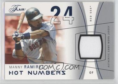 2004 Flair - Hot Numbers Game Used - Blue #HN-MR - Manny Ramirez /250