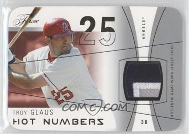 2004 Flair - Hot Numbers Game Used - Gold Die-Cut Patch Non-Numbered #HN-TRG - Troy Glaus