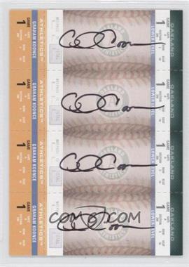 2004 Fleer Authentix - Autograph Booster Ticket Strips #119 - Graham Koonce