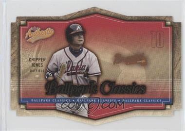 2004 Fleer Authentix - Ballpark Classics #3 BC - Chipper Jones