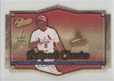2004 Fleer Authentix - Ballpark Classics #4 BC - Albert Pujols