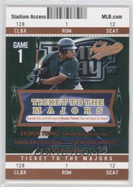 2004 Fleer Authentix - [Base] - Club Box #112 - Delmon Young /25