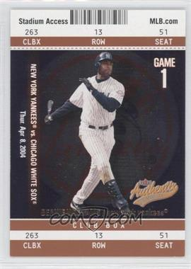 2004 Fleer Authentix - [Base] - Club Box #62 - Bernie Williams /25