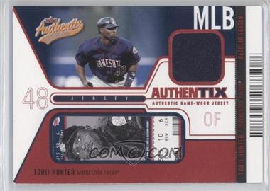 2004 Fleer Authentix - Game Jerseys - Unripped #JA-TH - Torii Hunter /50