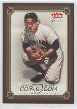 2004 Fleer Greats of the Game - [Base] #78 - Yogi Berra