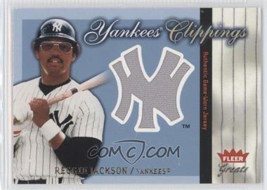 2004 Fleer Greats of the Game - Yankees Clippings #YC-RJ - Reggie Jackson