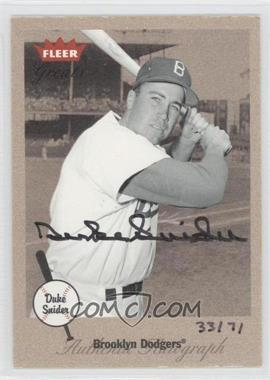 2004 Fleer National Pastime - Autographed Buybacks #DUSN - Duke Snider (2002 Fleer Greats) /71