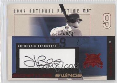 2004 Fleer National Pastime - Signature Swings - Red #SSA-HB - Hank Blalock /109