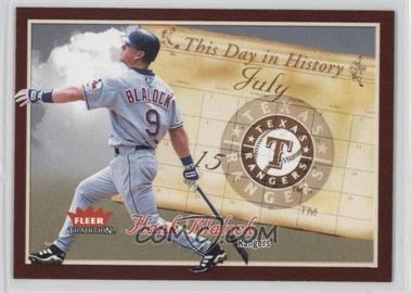 2004 Fleer Tradition - [???] #15TDH - Hank Blalock