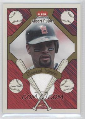 2004 Fleer Tradition - Diamond Tributes - Jerseys #DT-AP - Albert Pujols