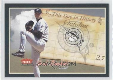 2004 Fleer Tradition - This Day in History #TDH-1 - Josh Beckett