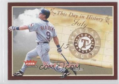 2004 Fleer Tradition - This Day in History #TDH-15 - Hank Blalock