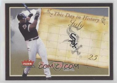2004 Fleer Tradition - This Day in History #TDH-8 - Frank Thomas