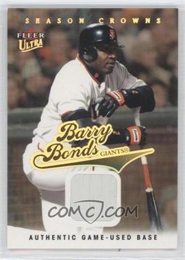 2004 Fleer Ultra - [Base] - Season Crowns Gold Relics [Memorabilia] #95 - Barry Bonds /99